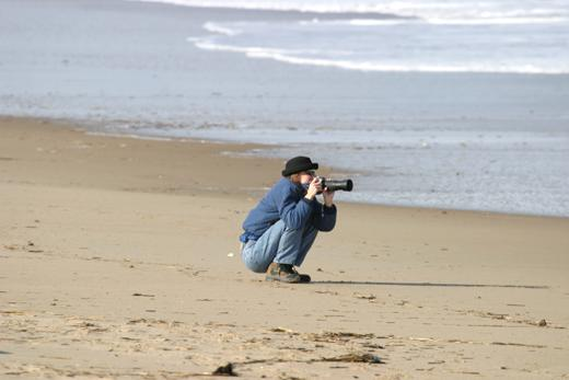 taking pictures of the surf