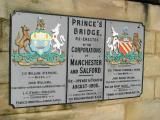 Prince's bridge, the border between Manchester and Salford