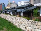 Traditional shops along the Metoba-gawa