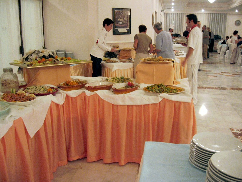 Amazingly good all-you-can-eat buffet dinner at Pam Hotel