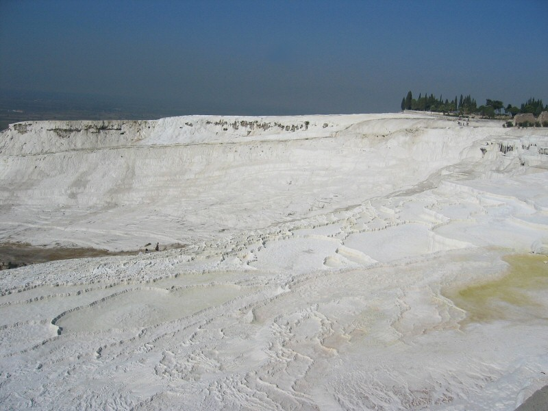 Going up to Pamukkale the next day.   Note dried-up pools, a problem today.