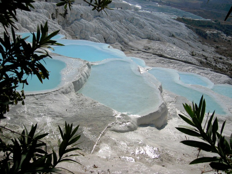 Thats the actual color of these strange pools.