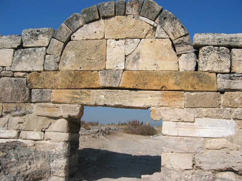 The old Byzantine Gate of Hierapolis.