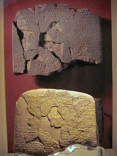 2 copies of Treaty of Kadesh, the first written peace<br>treaty ever,  1269 BC