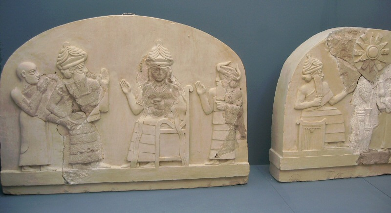 Low reliefs with broken pieces restored
