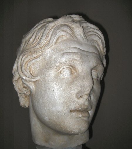 Famous Alexander head from the excavation at Pergamon. 2nd C.