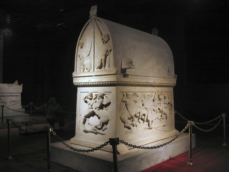 Lycian Sarcophagus - 5th C. BC   No flash.   All photos here are long-exposure.