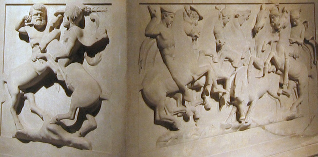 Enlarged the bottom relief  of the sarcophagus.