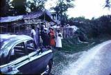 Island Jamaica. Ethel at a church