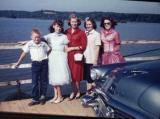 Ray James Phillis Ethel Dorris Barbara  On the ferry across the Hawassee river