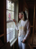 Heather locks the newly installed window