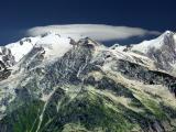 Massif du Mt Blanc vu du col du Joly (+ cirrocumulus)