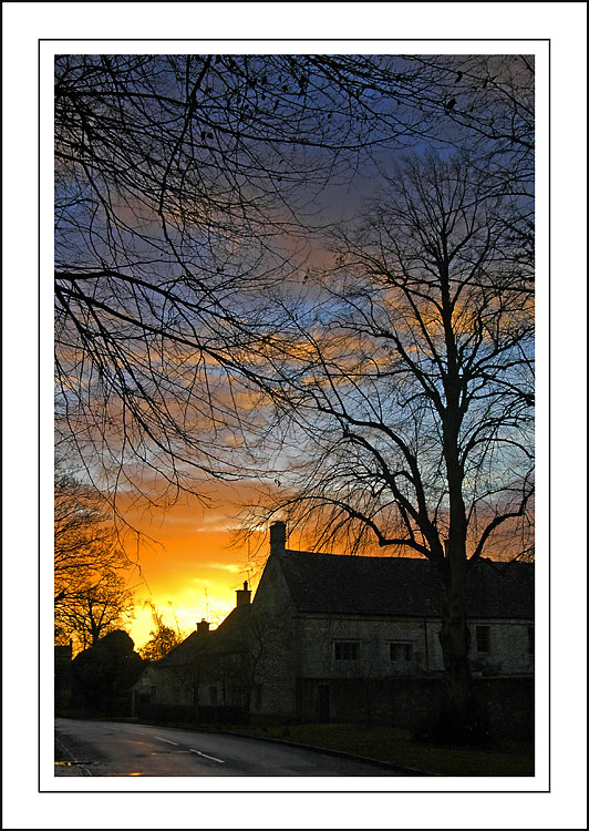 Closer to the sunrise, Lower Slaughter, Gloucestershire