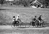[2005-03-17]  Bikers along the Train Tracks