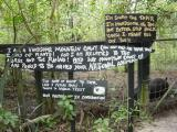 Fun handpainted signs at the Belize Zoo