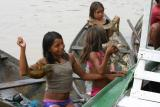 Amazon Village children posing for pictures