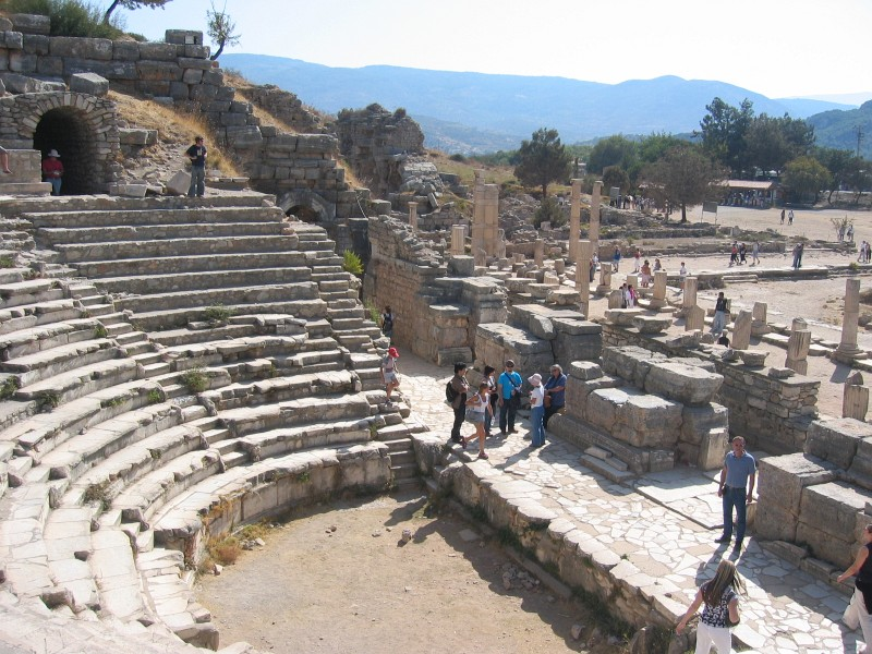 Ephesus - first stop, the little theater