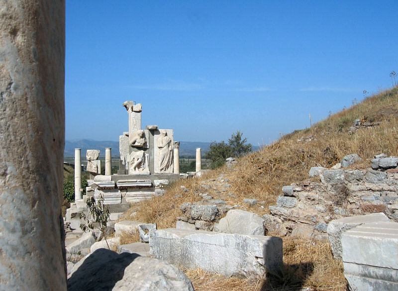 The Memmius Monument in the distance.  Late Hellenistic.