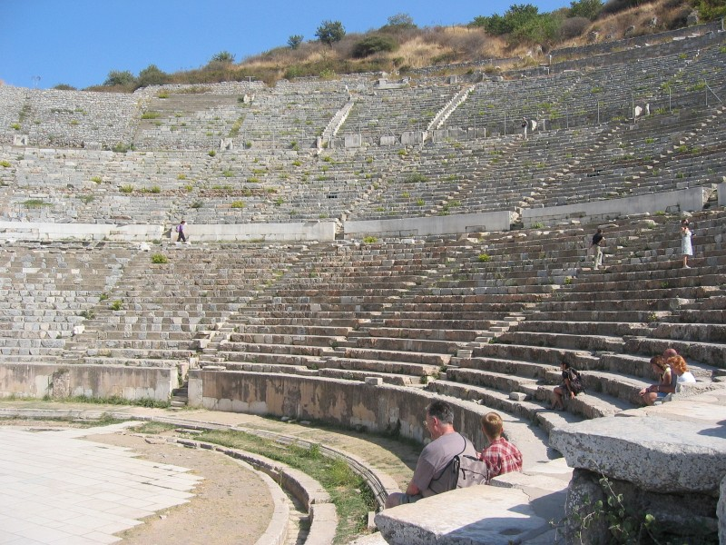 The Great Theater of Ephesus, where Demetrius<br>opposed St. Paul, per  Acts of the Apostles