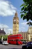 Big Ben and a Big Red Bus