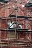 Repairs along the north wall of the Taj Mahal
