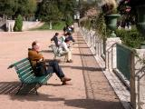 Blois: lunchtime in the episcopal gardens