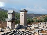 08 Xanthos, Roman (left) and Lycian tombs