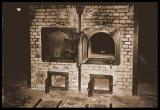 Birkenau's double-muzzle brick cremation ovens in Crematorium-I.  (Photo by Zé Paulo)