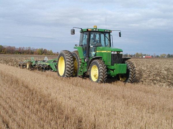 Last job of the season/ Instead of plowing we rented   Gary Gilliards John Deere Ripper.JPG