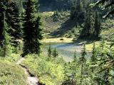 Tarns and Trail Below Green Mountain