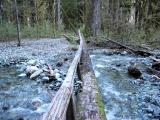 Log Bridge over Creek