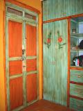 colorful closet and door