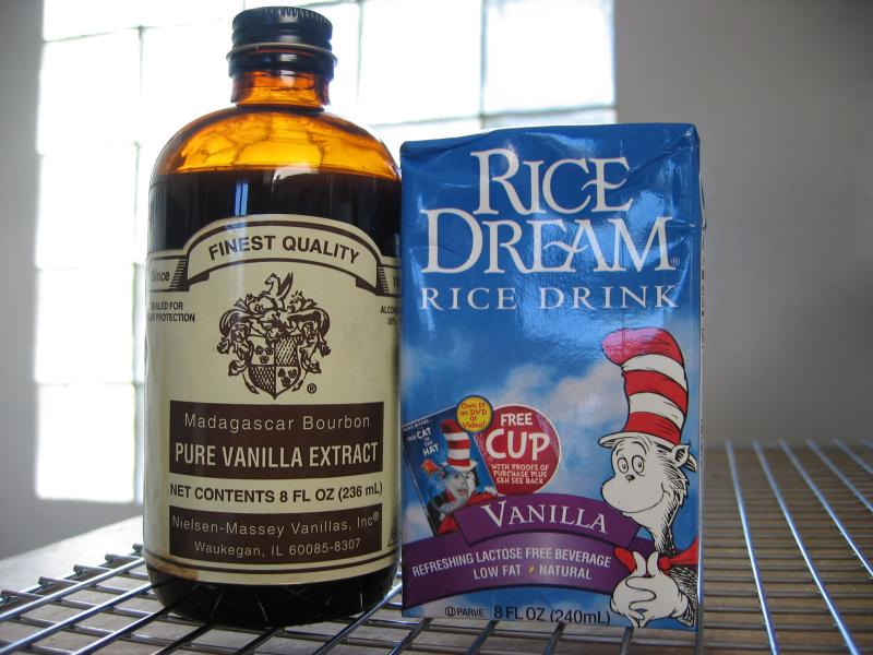 Vanilla & Vanilla Rice Milk