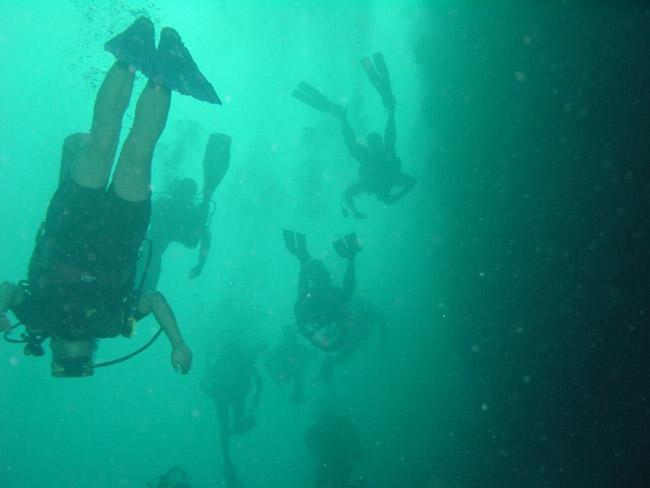 Blue Hole Depth 50m