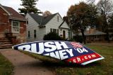 vandalized yard sign