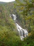 dramatic whitewater falls: 411 feet high