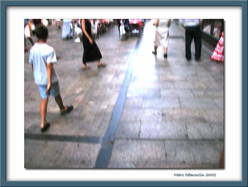 Ugo my son in a Salamancas street