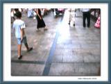 Ugo my son in a Salamanca's street