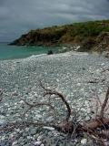 Blue Cobblestone Beach