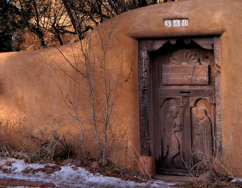 Adobe Gate, Camino del Monte Sol, Santa Fe, New Mexico, 2002