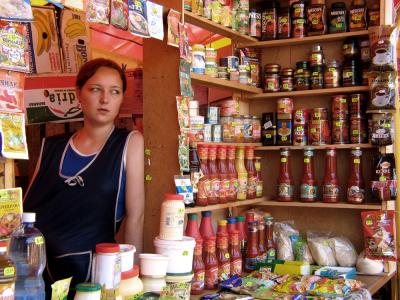 Condiment vendor, Kostroma, Russia, 2003