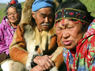 Siberian elders, Chukchi Peninsula, Russia, 2002