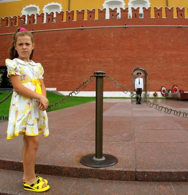 At Tomb of Unknown Soldier, Moscow, Russia, 2003