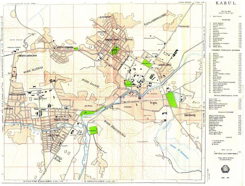 UN Map of Kabul