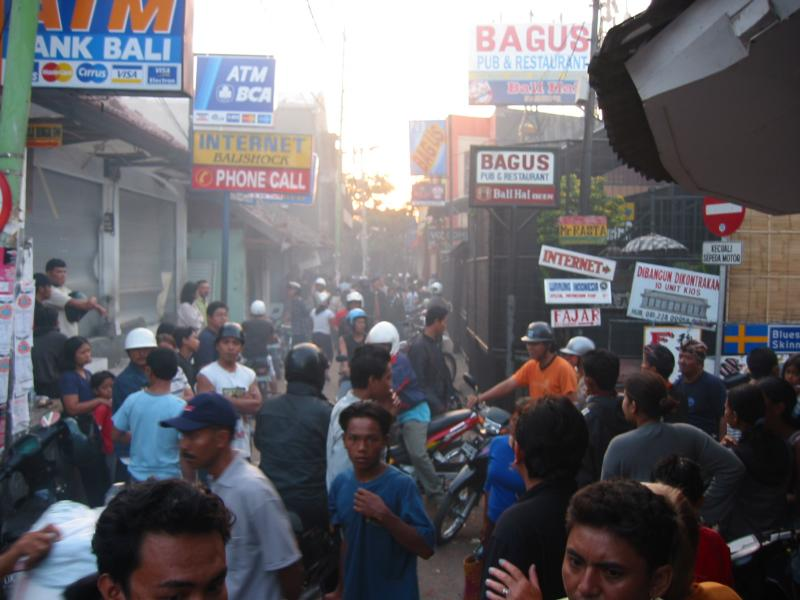 Bali, pub bagus on Right (down poppies lane)