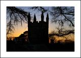 Lydford Church at Sunset