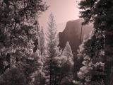 Half Dome in the morning sun (infrared)