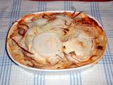 scalloped potatoes & thin sliced onions