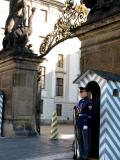 guard at castle gates