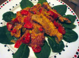 Pork Scallopini with Green Olives, Tomatoes and Onions #16098